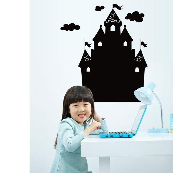 2018 Cartoon Castle 3D Sticker Cute Cartoon Party Decorative Wall Stikers Wallpaper Gift For 69cm*49cm Christmas Halloween Children's Day