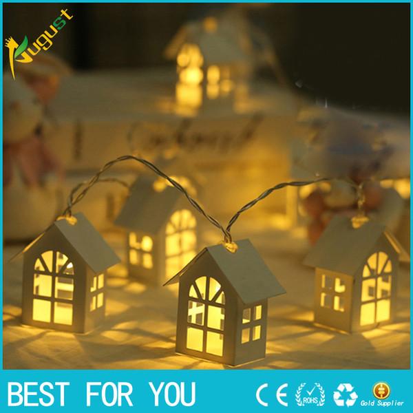LED Shine House per Decorazioni per alberi di Natale 2M 3M 6M Fairy Light String Cabine per matrimoni Christmas Pendant Drop Ornaments Decor