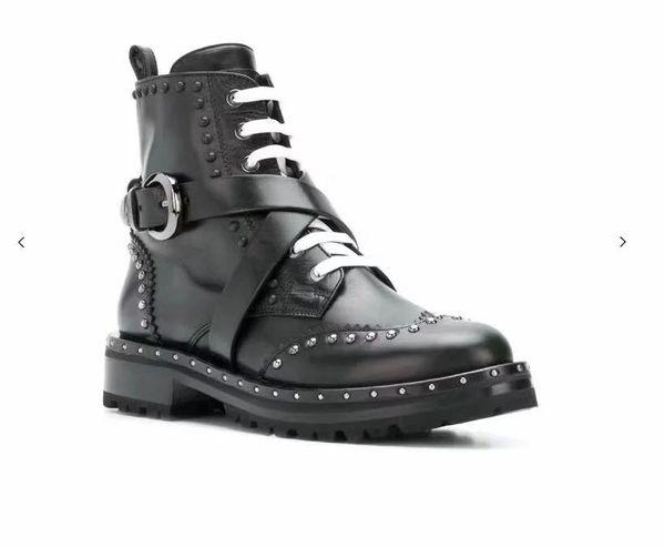 Mujeres Alta Casuales Real Para Marca Calientes Compre Cuero Martin Superior Zapatos Nieve Botas Invierno De Calidad TwwF6H