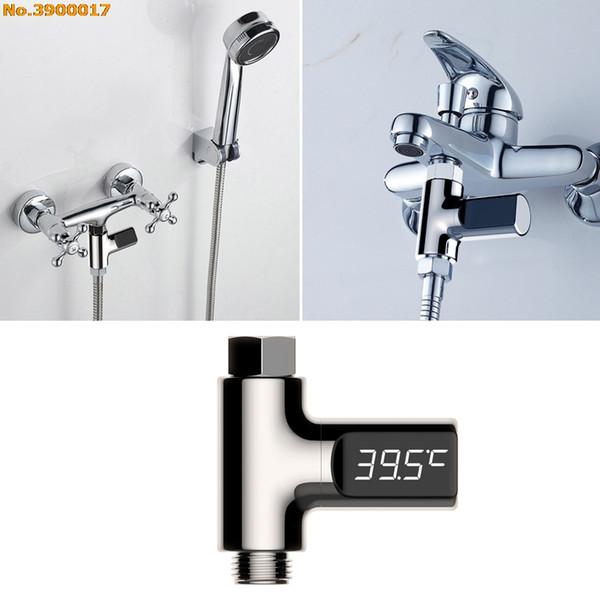 Shower Thermometers Digital Temperture Meter LED Display 0~100 Degree Temperature Sensor Selfgenerating Electric