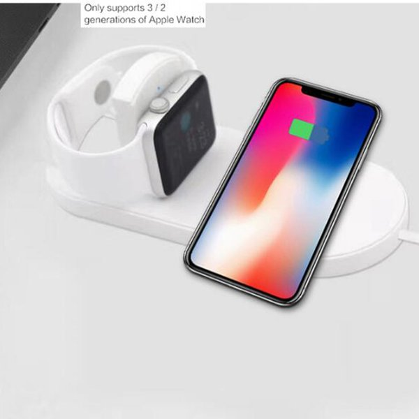 Qi Wireless Charger Fast Charging For Apple Watch 3 iwatch iphone X 8 plus 2 In 1 Fast Wireless usb Pad Phone Adapter