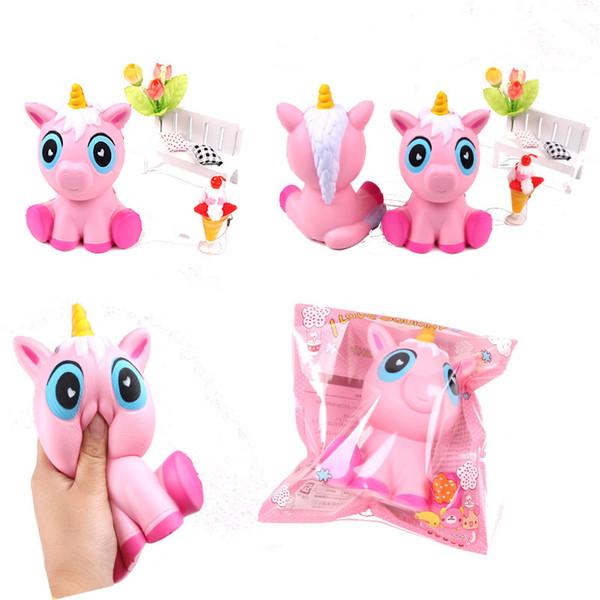 Anti-stress Cute Big Size Pink Unicorn Squishy Slow Rising Decompression Simulation Rilassamento profumato Unicorn Kids Toys