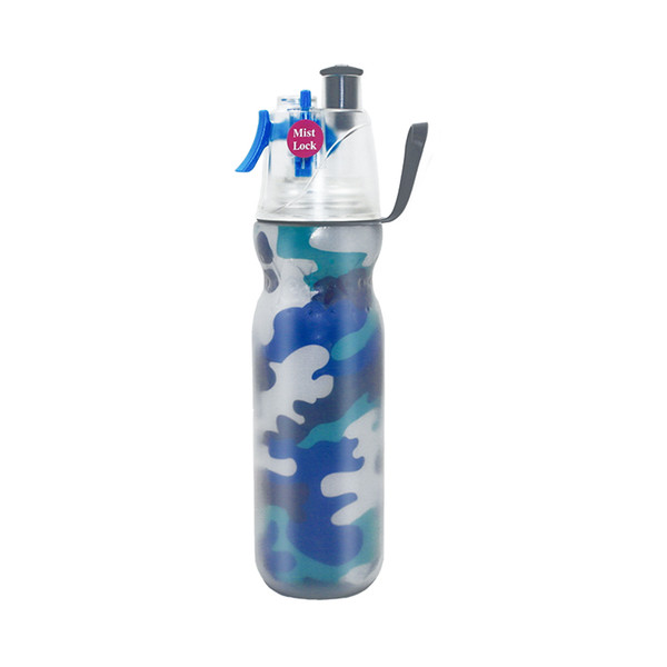 Best Summer Self Cooling BPA FREE Double Walled Sipping And Misting Spray Sports Water Bole Keep Cold For Gym Fitness Hiking