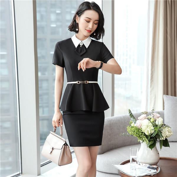 De nombreux styles de jupes de femmes élégantes de la mode costumes mis à tempérament à manches courtes blazers minces avec jupe / pantalon de bureau dames de travail portent