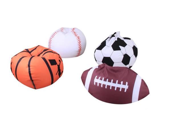 Football Basketball Baseball Storage Bean Bag 26inch Stuffed Animal Plush Pouch Bag Clothing Laundry Storage Organizer 4 Colors