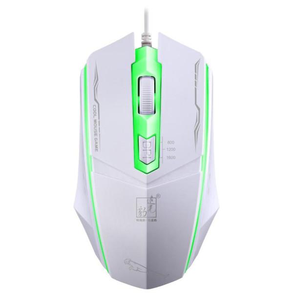ALLOYSEED USB проводная игровая мышь 4 кнопки красочная подсветка оптическая Gamer мышь эргономика геймпад для