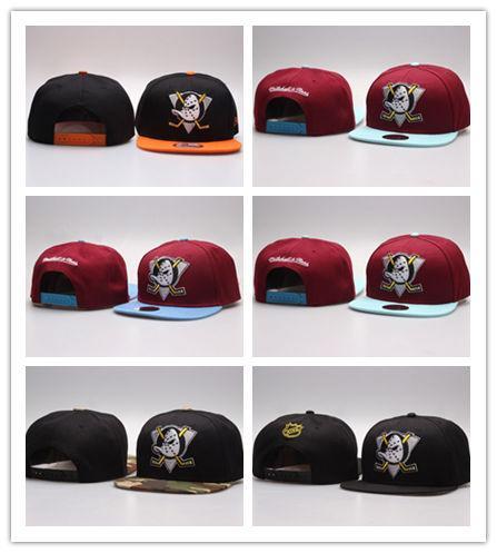 Hot Fashion Wholesale retail NHL Mighty Hockey Snapback Hats Anaheim Ducks bone cap Flat Fashion sports Cheap mens & women baseball caps
