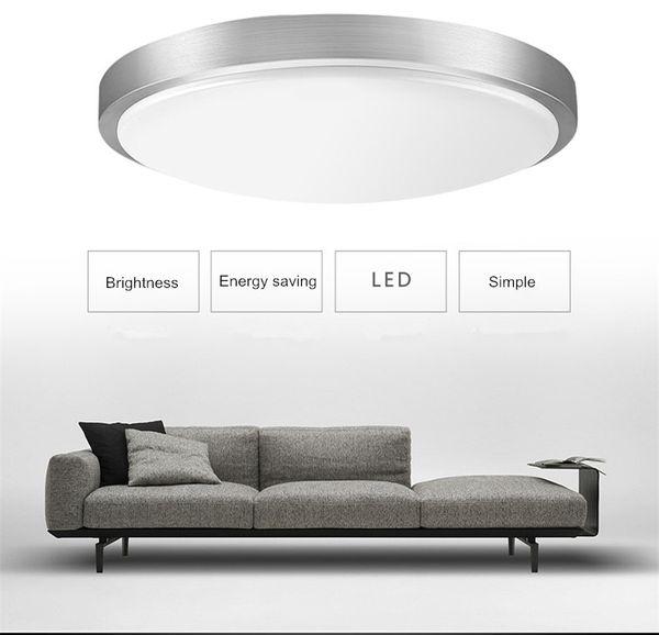Современный круглый светодиодный потолочный светильник Dia21cm 12W поверхность монтируется простой фойе светильники исследование столовая гостиная зал Дома коридор освещения
