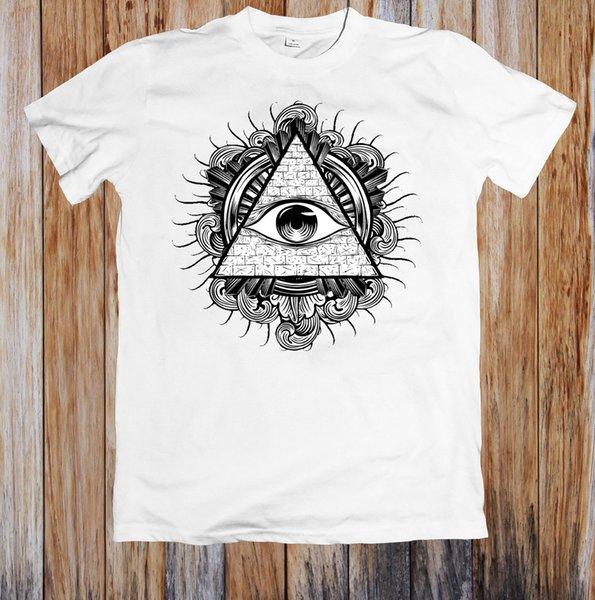 T-shirt Unisex Occhi di Illuminati Moda Manica corta Vendita 100% Cotone Stampa O - Collo Stile casual di alta qualità