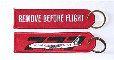 777 Remove Before Flight Fabric Key Chain Aviation Tags 13 X 2 8cm Remake  Car Key Remote Car Key From Crewbaggage, $80 88| DHgate Com