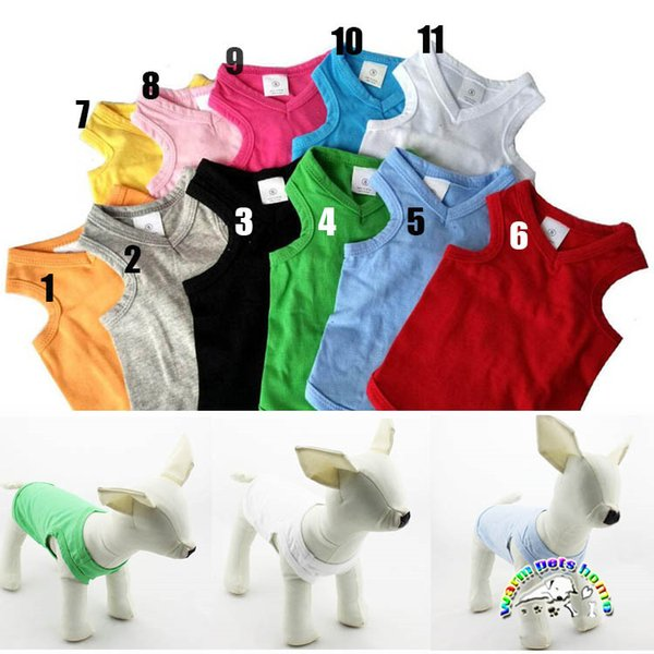 11 Colors Summer Sweet-heart Neck Tank Top t-shirt Dachshund Dog Clothes Pet Puppy Vest Dog Apparel Shih Tzu Dog Shirts