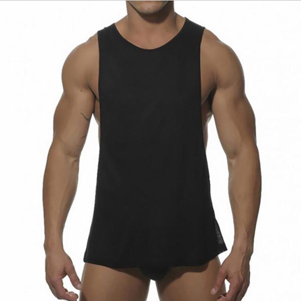 Новые мужские яркие топы мужчины Low Cut проймы жилет Sexy Tank Xman мышцы топы мужской костюм жилет Синглет футболка мужской F1