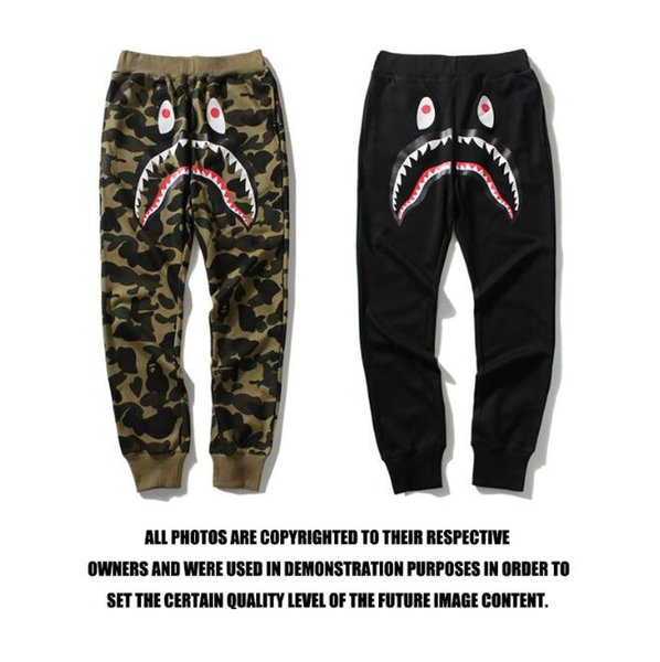 Gros Hommes '; S Jogger Sport Pantalons Shark Head Camouflage Jeunes Casual Pantalon Homme Casual Elastique Skinny Pantalon Hip Hop T