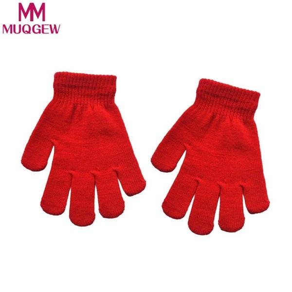 MUQGEW Infant Baby Cute Solid Print Hot Girls Boys Of Winter Warm Gloves mittens for winter for children gants fille enfants S1025