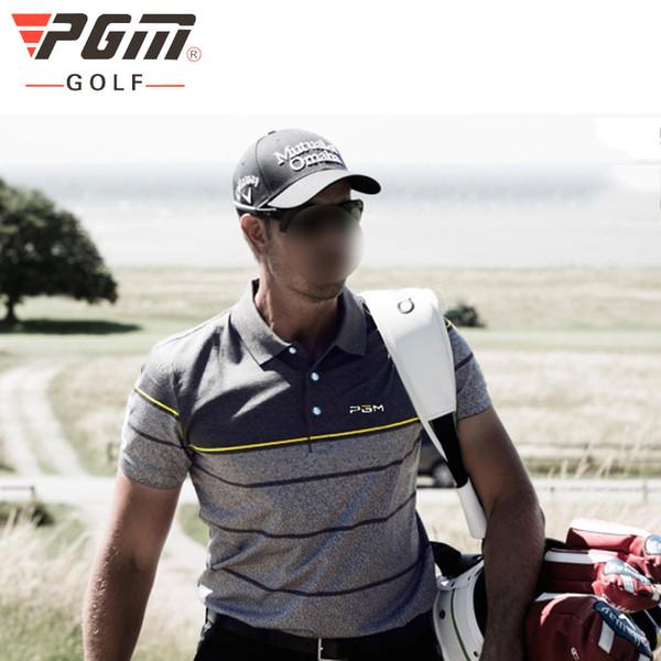 PGM Golf T-shirt Dos Homens T-shirt Listra Verão Respirável Anti Sweat Man Golf Esporte Pólo Homens Ao Ar Livre Treinamento