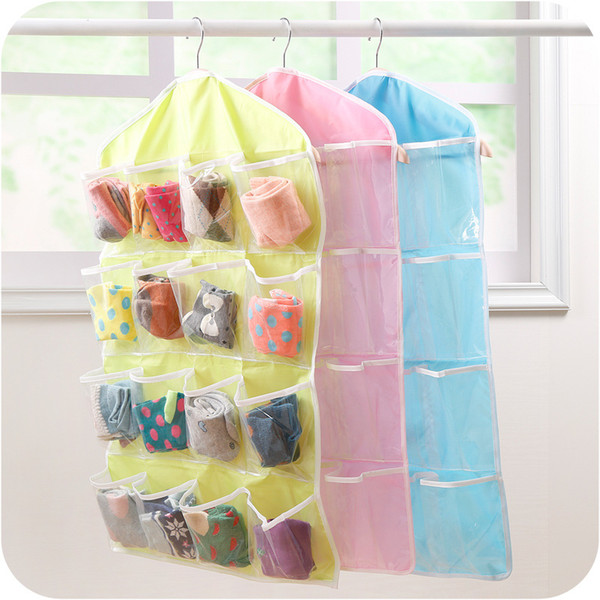 Popular Explosion Models 16-grid Wardrobe Panties Socks Storage Storage Bag Hanging Storage Finishing To Create The Perfect Home