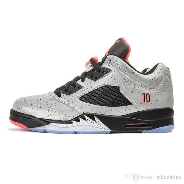 Cheap Mens Jumpman 5 V low cut basketball shoes 5s Grey 3M ASG Glow Green Silver China Lunar New Year CNY AJ5 sneakers with box for sale