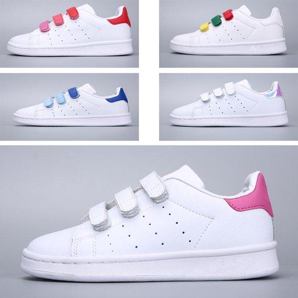 Acheter Adidas Stan Smith Superstar Mode Enfants Superstar Chaussures Original Blanc Or Bébé Enfants Superstars Baskets Originals Super Star Filles