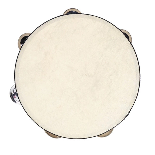 "8"" Hand Tambourine Drum Bell Metal Jingles Percussion Musical Toy Instrument"