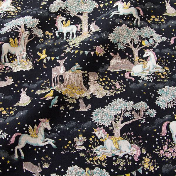 50 cm * 110 cm Japanischen Kokka Oxford Baumwollgewebe Patchwork Quilten Tuch Stoff Textil Für Nähen Einhorn D