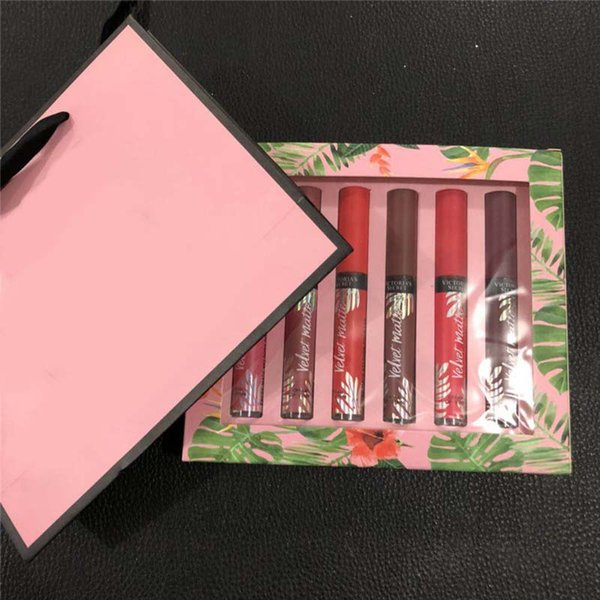 Popular Velvet Matte Color Lip Gloss Cosmetics set 12 colors Waterproof long-lasting liquid lipsticks DHL Free