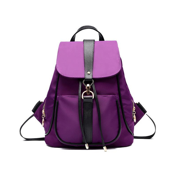Women PU Packages Shoulder Bag Waterproof Nylon Backpack Fashion Handbags Casual Diagonal Lady Cross Body New Female Package