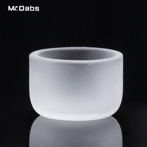 New 20mm 25mm 26mm Frosted Flat Top Bottom Thermal Skillet Quartz Phat Bowls Insert Drop Honey Bucket for Domeless Banger Nail Water Pipes