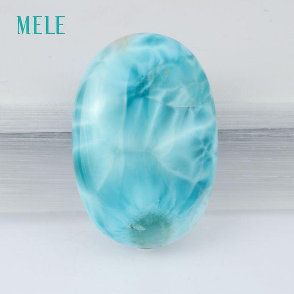 Piedra preciosa suelta larimar natural, 12.04 gramos, oval 36.5mm * 25mm, color azul profundo, figura única, piedra rera