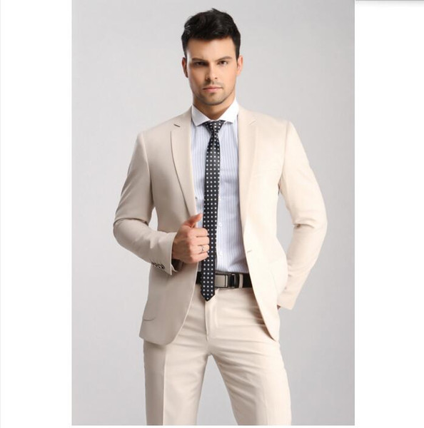 Custom Men's Suit Two-Piece (Jacket + Pants) Men's Single Buckle Boxer Collar Suit Wedding Groom Dress Men's Business Formal Suit