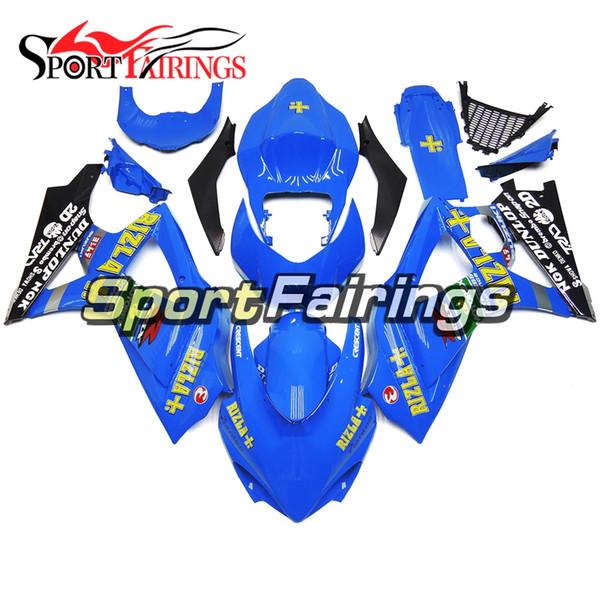Complete Rizla Dark Blue Fairings For Suzuki GSXR1000 GSX-R1000 K7 07 08 2007 2008 Sportbike ABS Motorcycle Injection Bodywork