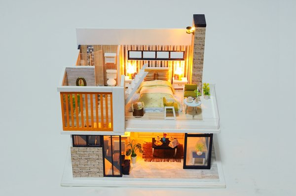 Mobili Per Casa Delle Bambole Fai Da Te : Acquista casa delle bambole con mobili anti polvere miniatura fai