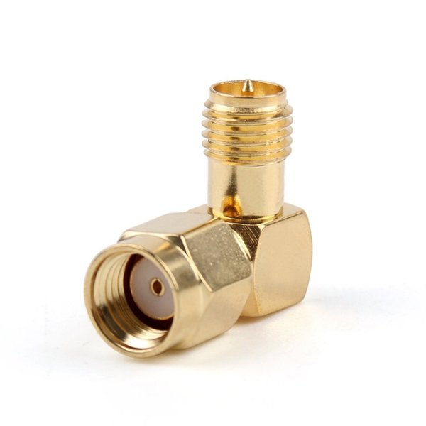 90 Degree SMA Adapter Connector Converter RP SMA Male To RP SMA Female for Antenna Plug Coaxial