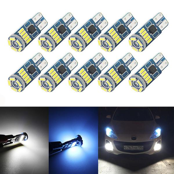 10 Stücke W5W SMD Auto T10 LED 194 168 Keil Instrumententafel Lampe Weiß Kristall Blau Lesen Freiheit Glühbirnen Für Autolichter