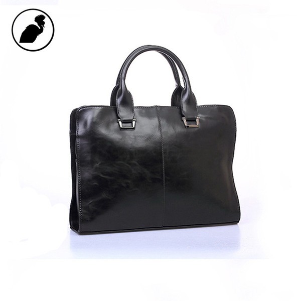 ETONWEAG Famous Brands Italien Porte-documents en Cuir Hommes Messenger Sacs Noir De Luxe Porte-documents D'affaires Vintage Avocat Sac D'ordinateur Portable