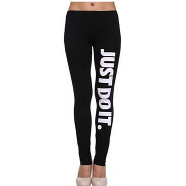 "Brand New Women's jogger Pant Tight Fitting Slim Fitness Pencil Trousers Letter""JUST DO IT"" Sport Skinny Stretchy Pants Pencil Pants"