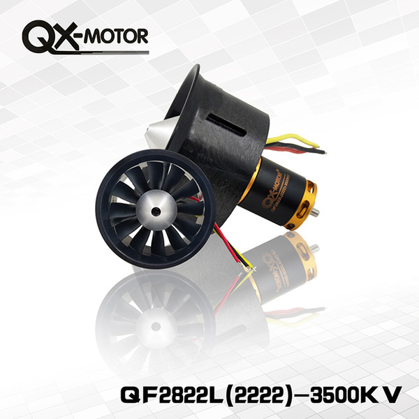 QX-MOTOR Brand New DIY Drone 64mm EDF Set 2822 3500KV Motor with 12 Blades Duct Fan for RC Airplane Parts Wholesale