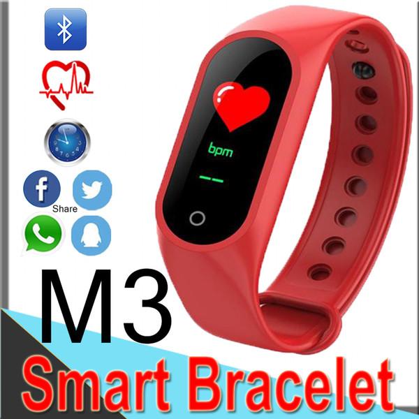 M3 Xiaomi Mi Band 3 Smart Armband Farbe HD Bluetooth Fitness Tracke Herzfrequenz Blutdruck Sport wasserdicht Band für Android XCTM3