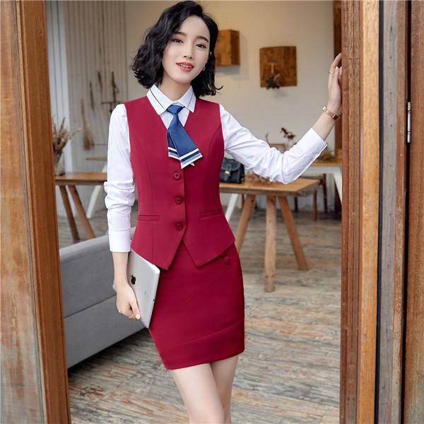 red vest + skirt