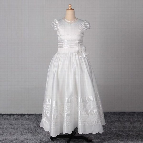 New Beautiful Princess Flower Girl Dress Pageant Prom Wedding Party Birthday Occasion Children Gown Kids Dresses YYST57
