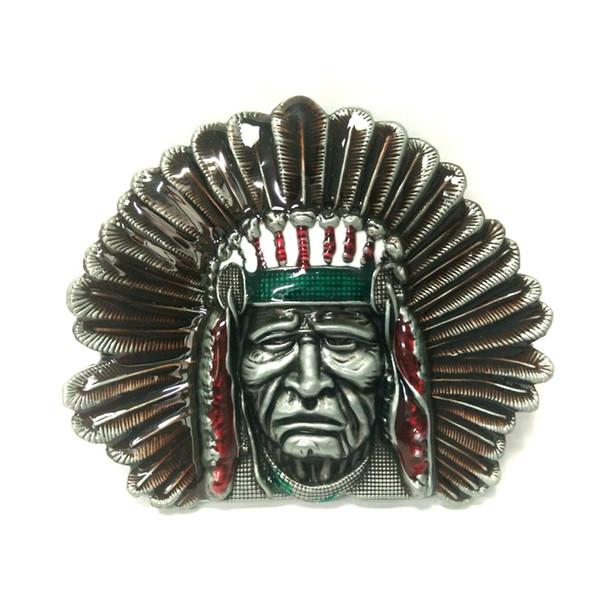 Einzelhandelsgroßhandelskundenspezifische indianische Chefs schnallen westliche Cowboyschnallen für Gürtelzubehör um