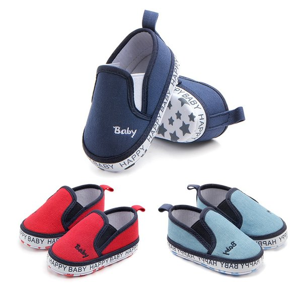 Baby Shoes Classic Canvas Embroidery Letter Baby Girl Shoes Cotton First Walker Fashion Boy