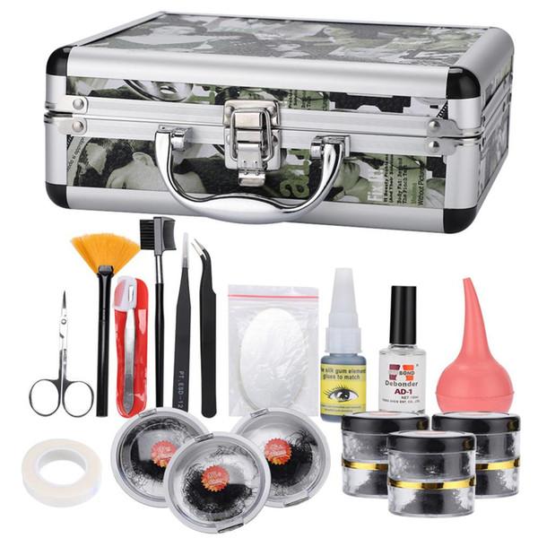 23PCS Makeup False Eyelashes With Magnet Extension Kits Individual Professional Natural Long Grafted Fake Eyelash With Case Box