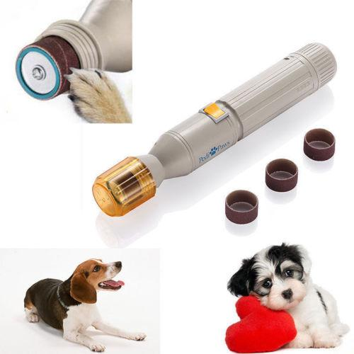 Pet Nail Grooming Care Grinder Trimmer Clipper File Tool Electric Claws Grinding Manicure Device for Dog Cat Finger Paws Kit Set