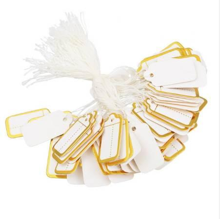 best selling Hoomall 95PCs Price Labels Hanging Carment Tags Paper Cloth Labels 2.4*1.5CM