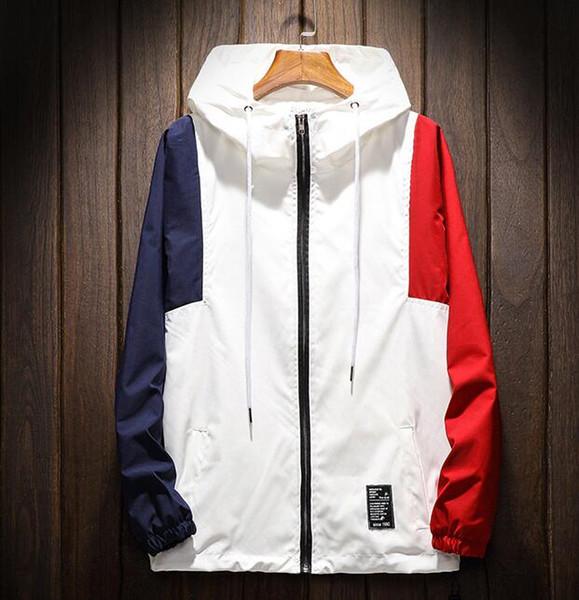 Sport Jacke Von De Street Großhandel Herren Mäntel comDhgate Color 4 Übergroße Kapuze Huhu93027 Auf dhgate Schicke Multi Block n0ymwOvN8