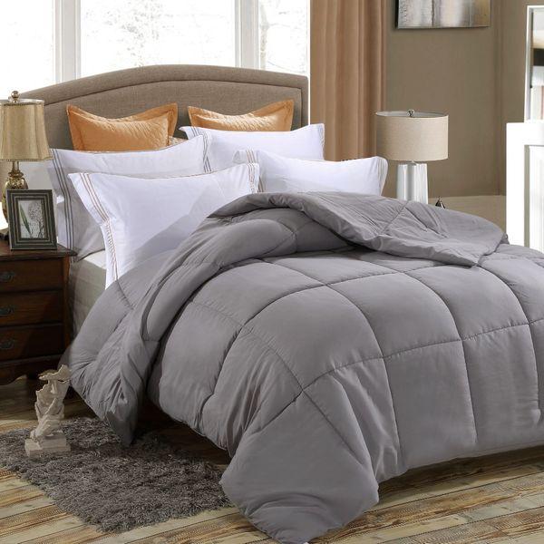 down alternative comforter, duvet insert, medium weight for all season, fluffy, warm, soft & hypoallergenic46