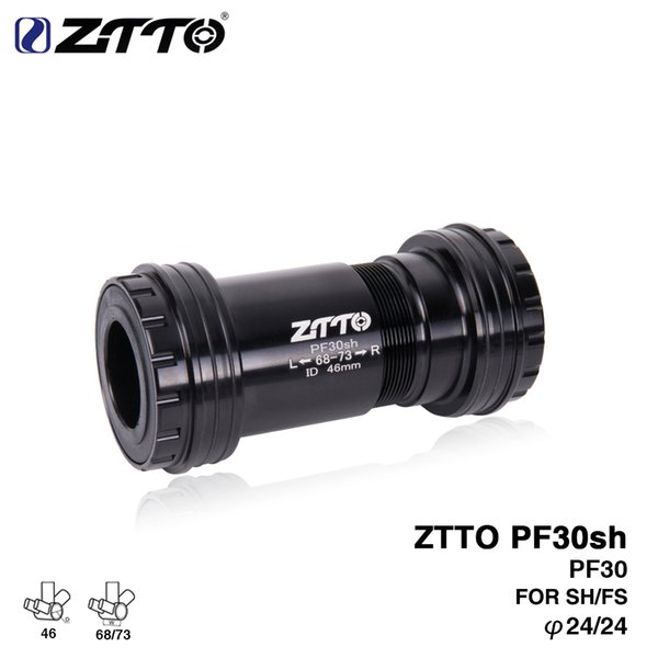 ZTTO PF30sh 24 Adapter bicycle Press Fit Bottom Brackets Axle for MTB Road bike Parts Prowheel 24mm Crankset chainset