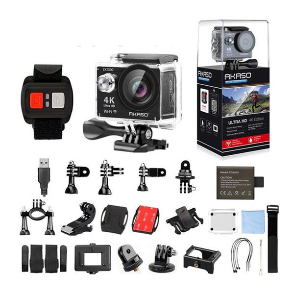 AKASO EK7000 4 k WIFI Açık Spor Eylem Kamera Ultra HD Su Geçirmez DV Kamera 12MP Aşırı Sualtı 1080 p 60fps Video Kam