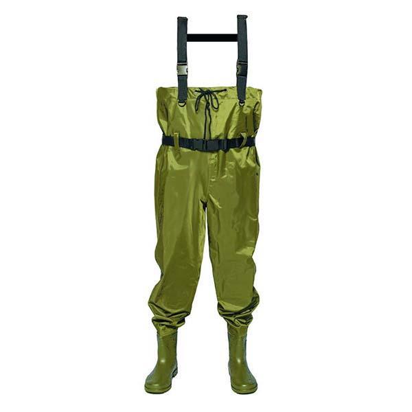 High Chest Wader 70D Nylon PVC Waterproof Fishing Wader wader pants anti-skidding shoes CHN-81202 2018 hot