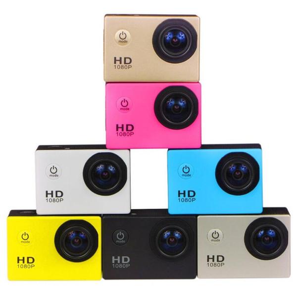 best selling 120pcs 1080P Sports DV SJ4000 2 Inch 12Mega Pixels Full HD Helmet Camera Camcorder HDMI H.264 Car DVR 30 meters underwater 6 colors